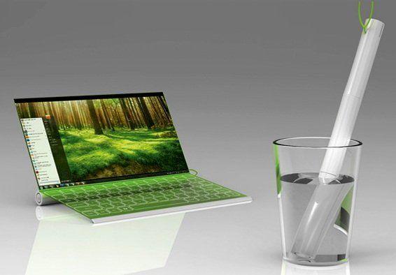 Plantbook - ноутбук, работающий на воде