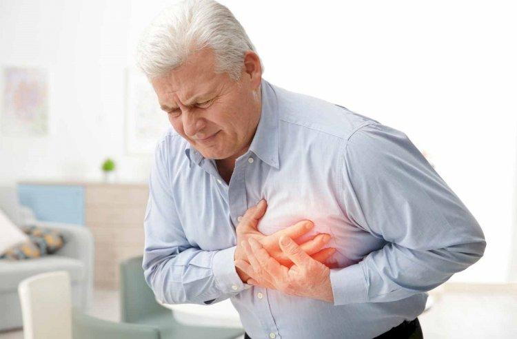 Обязательный симптом приступа - боль в груди